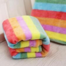 Pet Rainbow Bed Mat Soft Cotton Flannel Cover Cushion Autumn Winter Accessories