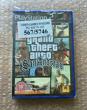 BRAND NEW FACTORY SEALED GRAND THEFT AUTO SAN ANDREAS FOR PLAYSTATION 2 PS2