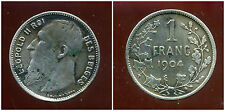 BELGIQUE  1 franc 1904  ( des belges )  argent