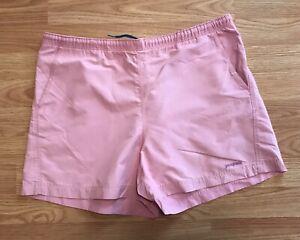 Patagonia Pink Tie Waist Running Walking Cotton Blend Shorts Size 12 SB2