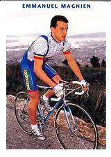 CYCLISME carte cycliste EMMANUEL MAGNIEN équipe CASTORAMA