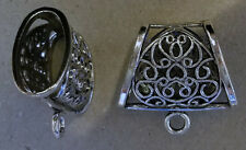 4 elegant scarf jewelry slider bail ring pendant charm slide tube necklace bail