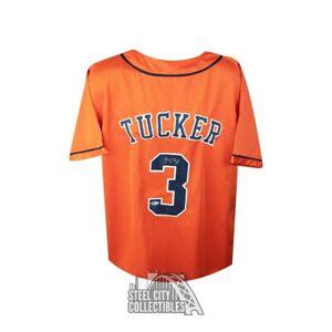 Kyle Tucker Autographed Houston Astros Custom Orange Baseball Jersey - BAS COA