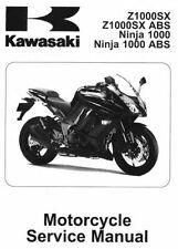 Kawasaki Ninja 1000 Z1000SX 2011 2012 2013 service manual on CD