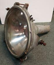 Vintage Late 1960's Industrial Metal Convex Glass Lens Spotlight