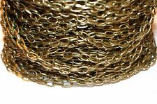 15ft 3.8x6.9mm Antique Brass Cable Chain links-unsoldered 1-3 day shipping