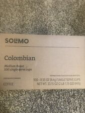 Solimo Colombian Medium Roast Coffee Pods 100-ct exp 07/2021 SHIPS FROM THE US