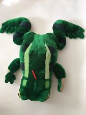 "Huge Frog Plush Stuffed Animal Green Gift Toy Amphibian Giant 36"" Long"