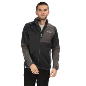 Regatta Mens Foley Hybrid Jacket Top Black Outdoors Full Zip Windproof