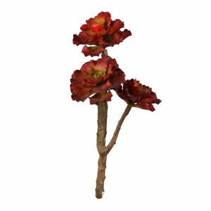 "Vickerman 13"" Red Succulent Spray"