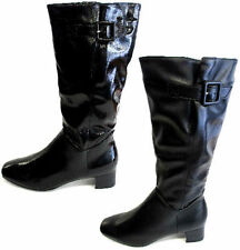 Spot on Women's Synthetic Leather Zip Knee High Boots