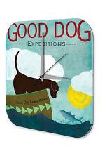 Horloge Drôle De Mur Dessin Animé  Bonne Expedition de chien Acrylglas