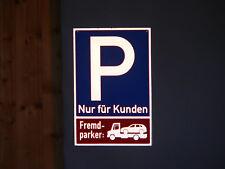 Parkplatzschild Schild reflektierend 20x30 cm, Textzeile nach Wunsch, Aluminium