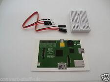 1x Mini Breadboard in White + 3x GPIO cables & GPIO pin card for Raspberry Pi