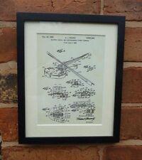 Brevetto USA disegno vintage Electric Violino FENDER MUSIC stampa montata 1961 REGALO