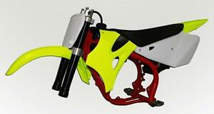 Cobra CX 65 CARD Fluorescent Yellow Plastic Kit 2010 - 2012 65cc Motorcycle CX65