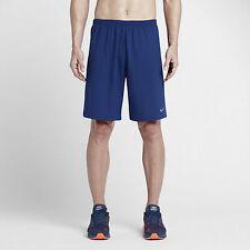 "Mens Size Small Nike 9"" Phenom 2-In-1 Running Shorts Blue Obsidian 683283-455"