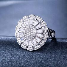 Fashion Women 925 Silver Jewelry White Sapphire Pretty Wedding Ring Size 9