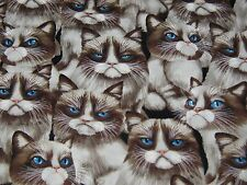 """TIMELESS TREASURE """"CRANKY CATS"""" 100% Cotton. BY THE YARD. Free Shipping"""