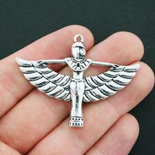 BULK 10 Isis Charms Antique Silver Tone Egyptian Goddess - SC4310