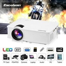 Excelvan Mini Projector 1080P Home Theater Cinema HDMI/USB/SD/AV/VGA 3.5mm EHD09