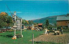 EQUINOX Valley Nursery Manchester VT Halloween Fall Autumn Vermont Postcard