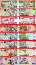 BAHAMAS FULL SET LOTTO 1/2 1 3 5 10 20 50 100 Dollars dollari 2009/2016 SC UNC