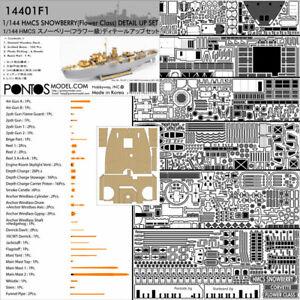1/144 HMCS Snowberry Flower Class Corvette Detail Up Set for Revell kit #05132