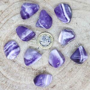 10 x Large Amethyst Tumblestones 92g-115g Crown Chakra Meditation Reiki seconds
