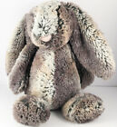 "Jellycat Plush Woodland Bunny Rabbit Bashful 12"" Marbled Brown Stuffed Animal"