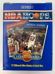 NBA HOOPS COLLECTABOOKS SERIES 1 BOX 2 BARKLEY, EWING, PARISH, NEW SEALED 1990