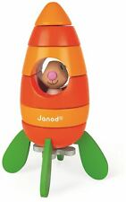 Janod LAPIN MAGNETIC CARROT ROCKET Wooden Toy BN