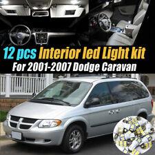 12pc Super White Car Interior LED Light Bulb Kit for 2001-2007 Dodge Caravan