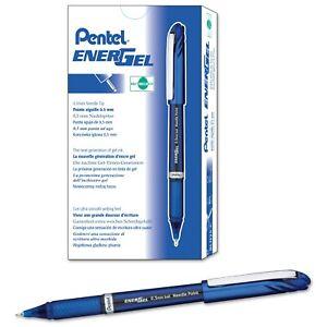 BLN25-C Pentel Energel NV Liquid Gel Pen, 0.5mm Needle, Blue Ink, Pack of 12