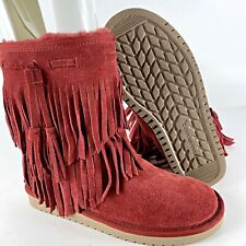 Koolaburra by UGG 1015897 Ankle Cable Winter Boots Woman US 8.5 Chestnut NEW
