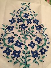 Threshold Paisley Shower Curtain Washed Blue New