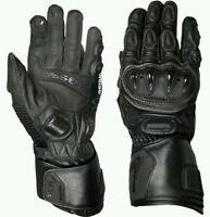 Weise Vortex Ladies Black Kangaroo Leather Sport Motorcycle Gloves RRP £89.99!!!