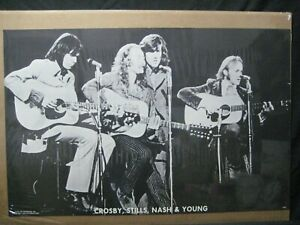 CROSBY, STILLS, NASH & YOUNG  VINTAGE POSTER GARAGE 1970'S  CNG1536