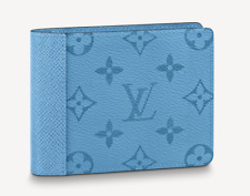 Louis Vuitton Monogram Denim Blue Multiple Wallet LV Authentic Brand New