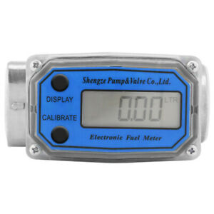 1'' Display Digital LED High Accuracy Gas Oil Fuel Flowmeter Turbine Flow Meter