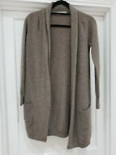 M&S Woman Pure Cashmere Brown Long Cardigan UK 10