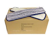 "50 Case 18"" Microfiber Looped Mop Pads Wet/Dry Refill 500GSM, Premium Grade"