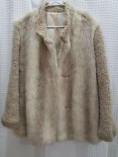 Vintage D' ESPRIT Dubrowsky Perlbinder Faux Fur Wool Coat Womens Sz M EUC