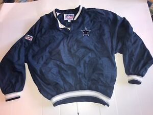 Dallas Cowboys XL Lined Sewn Letter ProLine Windbreaker Pullover Coat by Starter