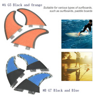 FCS G5/G7 Surf Fins Keels Glass Fiber Tail Surfboard Paddleboard Fin Rudder 3pcs