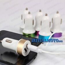 Car Mini Bullet USB Adapter Dual 2-Port Charger For Cell Phone Mobile Tablet Pad