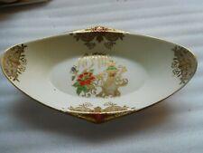 vintage noritake dish raised gold design