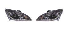 Ford Focus MK1 2001 - 2005 Black DRL Style Projector Head Lights - 1 Pair