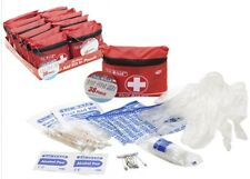 38pc SMALL MINI FIRST 1ST AID KIT ZIPPED BELT POUCH CYCLING TRAVEL CAMPING CAR