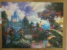 750 Piece Jigsaw Puzzle Disney's Cinderella - Thomas Kinkade Disney Castle used